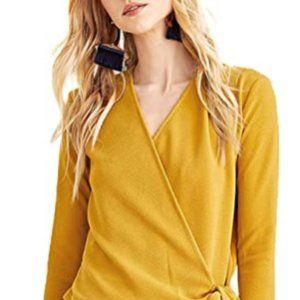 Tops - Women's casual long sleeve V-neck shirt